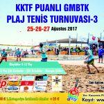 KKTF Puanlı GMBTK Plaj Tenisi Turnuvası-3 kayıtları başladı..