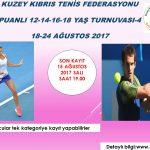 Düzeltme:KKTF Puanlı 12-14-16-18 Yaş Turnuvası-4 kayıtları başladı.