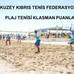 2017 yılı KKTF Plaj Tenisi Klasman Puanları.